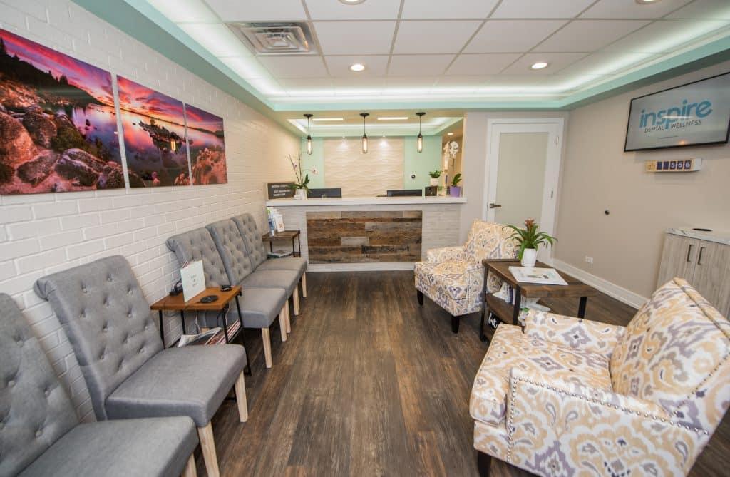 Reception Room Orland Park Dentist